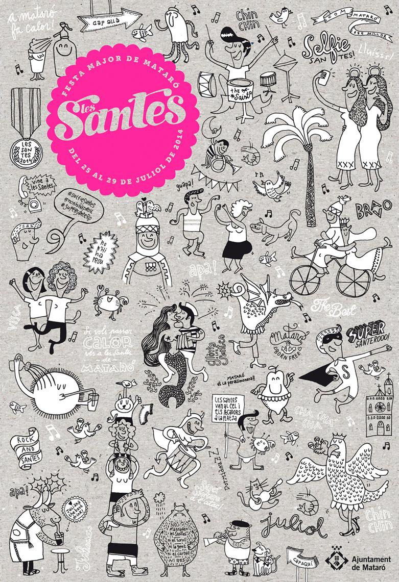 Cartel de Les Santes 2014 diseñado por Regina Puig